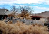 Commandos from Cannon Air Force Base, N.M., clear tumbleweeds from a residential area in Clovis, N.M., 2014. U.S. Air Force/Senior Airman Ericka Engblom