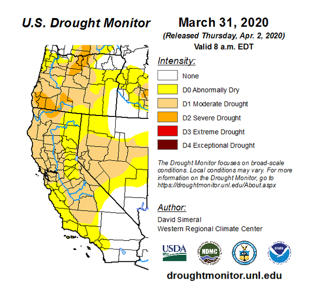 Apr 2 Drought Monitor