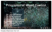 Principles of weed control training videos