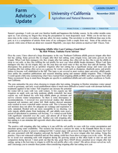 Lassen County Farm Advisors Update newsletter
