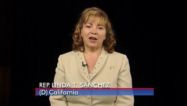 Congresswoman Linda Sanchez welcomed participants via video from Washington D.C.