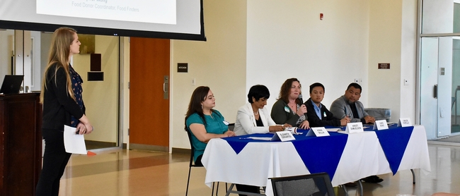 UCCE Advisor Natalie Price facilitating the panel discussion