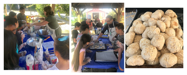 Students enjoyed the making of Wheat Buns and loved the taste of their creation. Susan Lafferty and Eldon Bueno - UCCE Nutrition Educators in Kings County provided hands-on learning to students on how to make wheat buns.