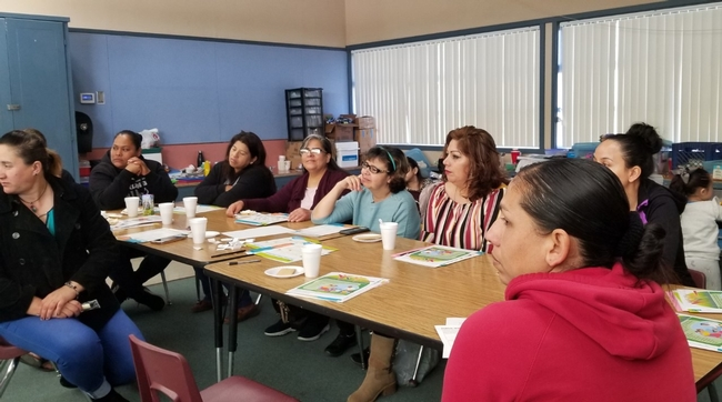 Participants attend classes taught by Elia Escalante, Nutrition Educator representing CFHL, UCCE Tulare