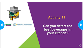 Powerpoint slide of Acitivty 11: Can you detect the best beverages in your kitchen?