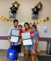 Image of CFHL, UCCE Kern Nutrition Graduates holding their certificates of completion.