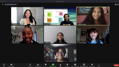 Screen shot of a ZOOM meeting with 5 teen leaders and two YPAR coordinators