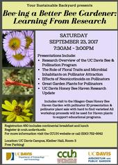 UC Davis Pollinator Workshop Flyer