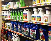 Pesticides on shelf. (Credit: Anne Schellman)