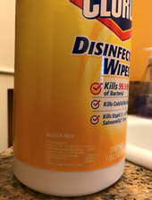 Figure 1. Disinfecting wipes contain different pesticide ingredients such as the ammonia compound shown here.