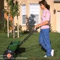 A drop fertilizer spreader.