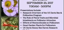 UC Davis Pollinator Workshop Flyer for Pests in the Urban Landscape Blog