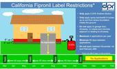 Diagram showing California fipronil label restrictions. (Credit: California Department of Pesticide Regulation)