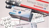 Boxes and packets of ivermectin tablets.