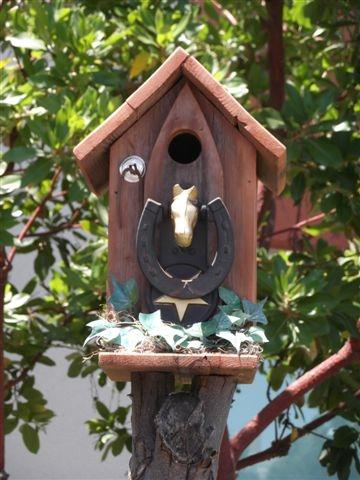 Entrance to the bird house. (photos by Sharon Rico)