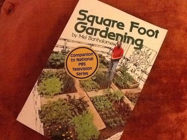 Cover of Square Foot Gardening. (photo by Cheryl Potts)