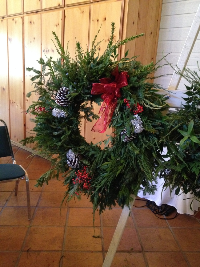 Wreath created as a thank you for supporter of the event.