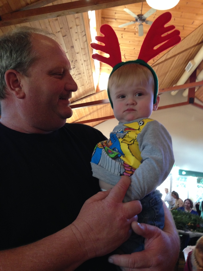 Charlie and his baby reindeer (Ethan)