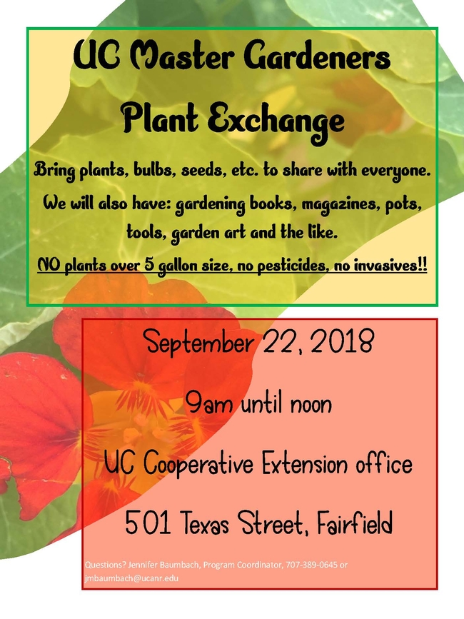 plant exchange flyer 2018