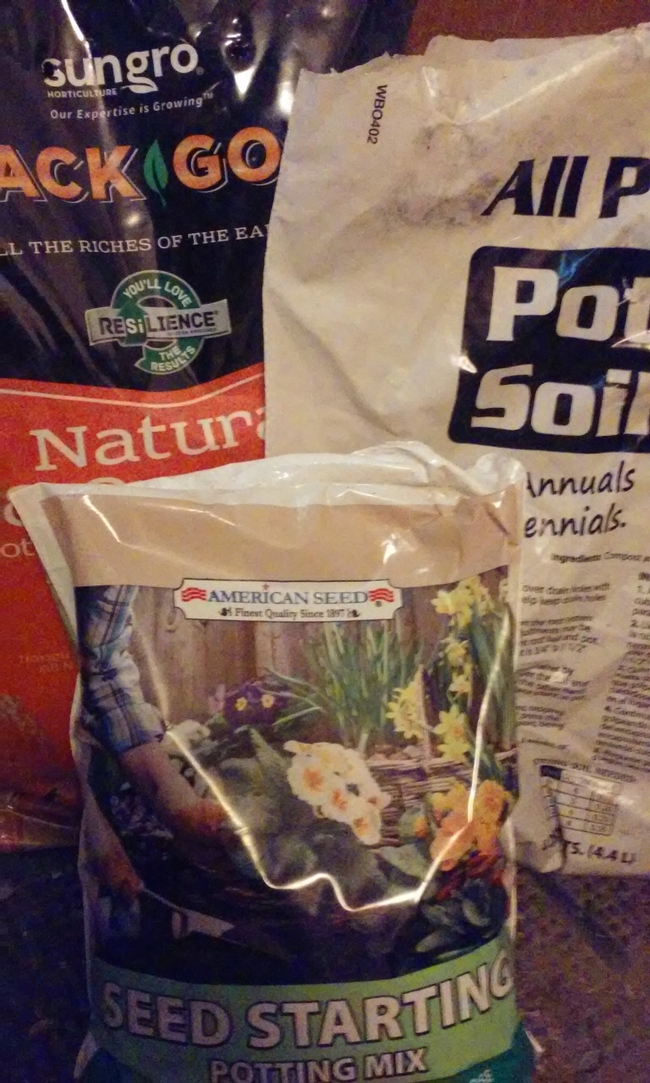 Bagged soil products