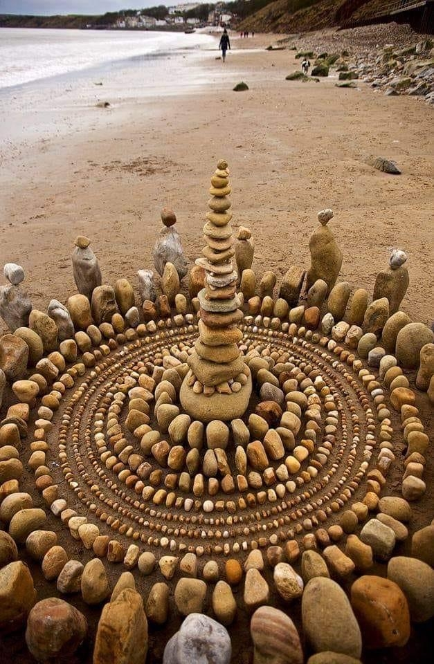 Overachievers rock stacking.
