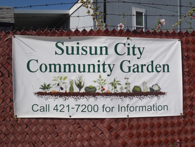banner displaying the entry to the Suisun Community Garden