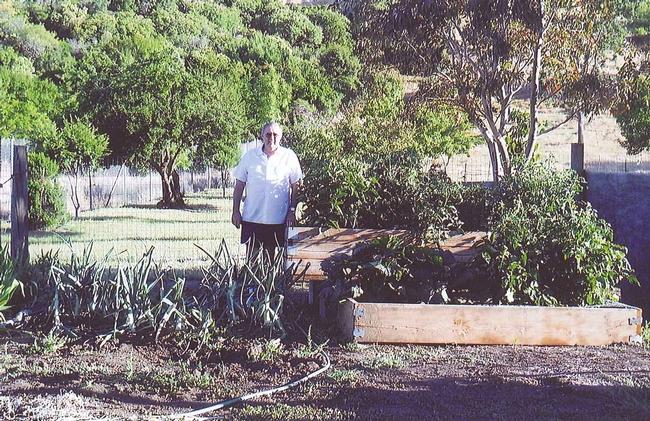 Evon in the garden.