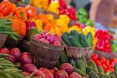 Un arco iris de verduras