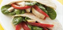 Pan pita relleno de pollo con espinacas y pimientos rojos. for Blog de Alimentos Blog