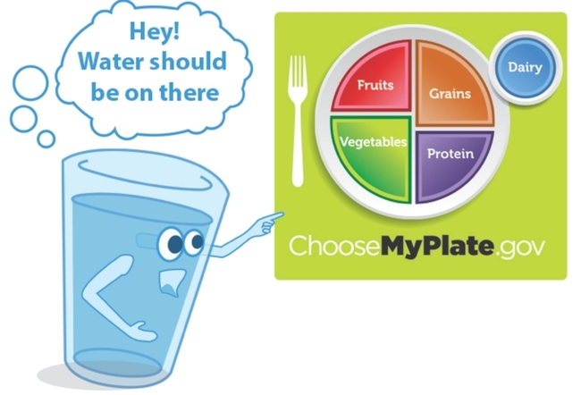 El Instituto de Política sobre Nutrición de UC ANR hace un llamado al USDA para que agregue el agua a MiPlato.
