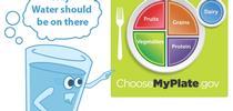 El Instituto de Política sobre Nutrición de UC ANR hace un llamado al USDA para que agregue el agua a MiPlato. for Blog de Alimentos Blog