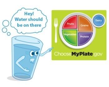 El agua es una bebida sana para los niños.