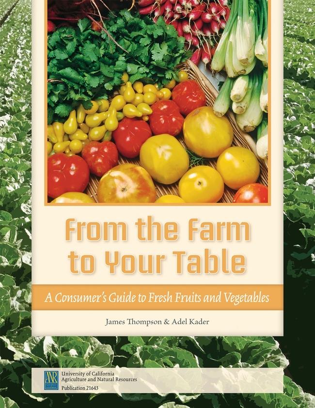 La guia de frutas y verduras frescas de ANR de la UC está ya a la venta.