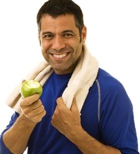 Una manzana después del ejercicio ayuda en la recuperación