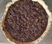 La tarta de pecanas es una de las favoritas del sur del país. Los ingredientes en esta inolvidable tarta de pecanas y delicia sureña de los Garvey, incluye dos tazas de pecanas y dos cucharadas de ron. (Fotografía: Kathy Keatley Garvey).