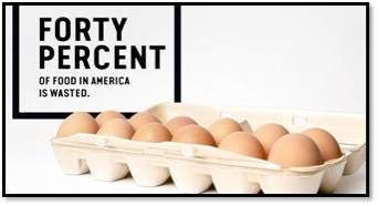 Un 40 por ciendo de los alimentos se desperdician.