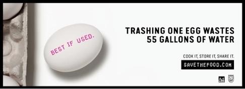 Al tirar un huevo a la basura se desperdician cinco galones de agua.