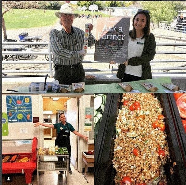 Promoción de los alimentos y granjas locales a través de la semana del Huerto a la Cafetería. Fotografía: @slcusdfood