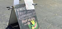 Los mercados de granjeros están probando nuevos enfoques para mantener a los vendedores y clientes seguros en los mercados de granjeros. (Fotografía: Pamela Kan-Rice) for Blog de Alimentos Blog
