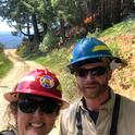 UCCE advisors Lenya Quinn-Davidson and Jeffrey Stackhouse at a prescribed burn in Humboldt County.