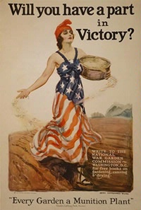 A World War II Victory Garden poster.