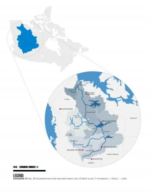 The Mackenzie Basin in Canada.