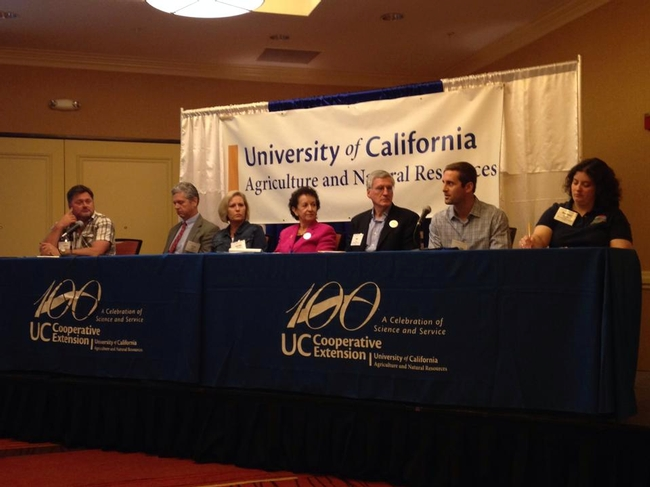 A panel discusses the future of agriculture in California.