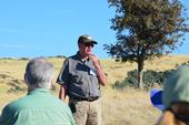 Ken Tate speaks at a rangeland field day.