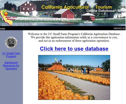 The opening screen of http://www.calagtour.org.