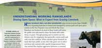 A new free UC ANR publication helps hikers, bikers and runners peacefully co-exist with grazing animals. for ANR News Blog Blog