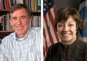 UC ANR's Dan Sumner, left, and CDFA's Karen Ross.