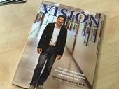 UC ANR's Samuel Sandoval Solis is featured on the cover of Vision Magazine.