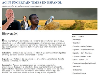 Ag in Uncertain Times en español Web site.