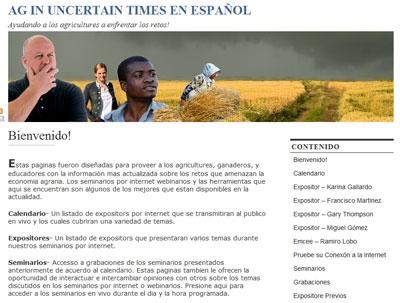 Ag in Uncertain Times en español Web site.